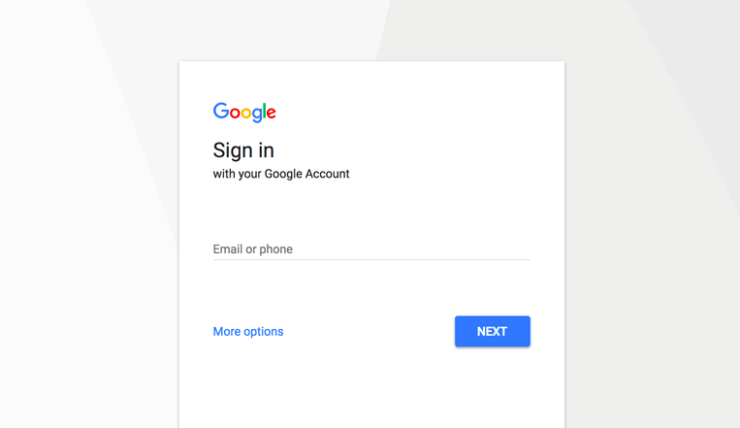 Google new Sign-in