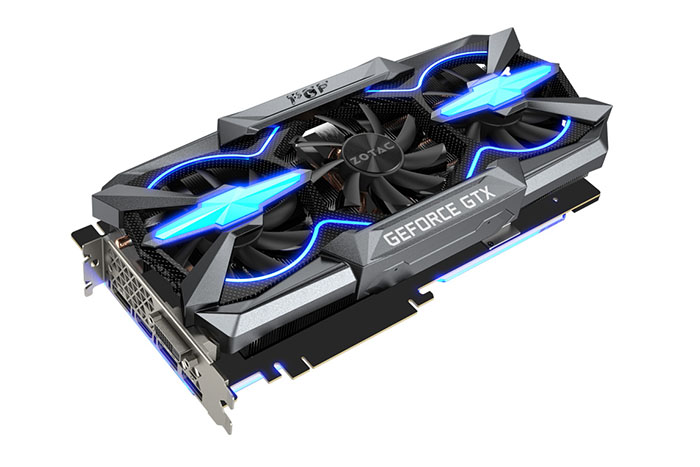 ZOTAC Custom GeForce GTX 1080 Ti PGF Extreme Graphics Card Pictured
