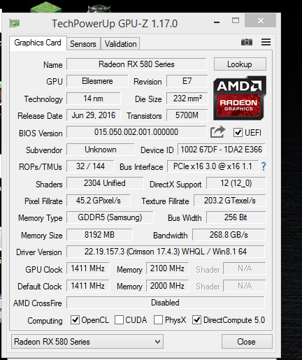 AMD RX 480 Can Be Upgraded To RX 580 With A BIOS Flash
