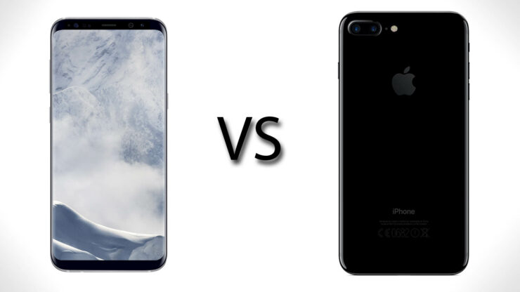 Galaxy S8 vs iPhone 7 Plus speed test