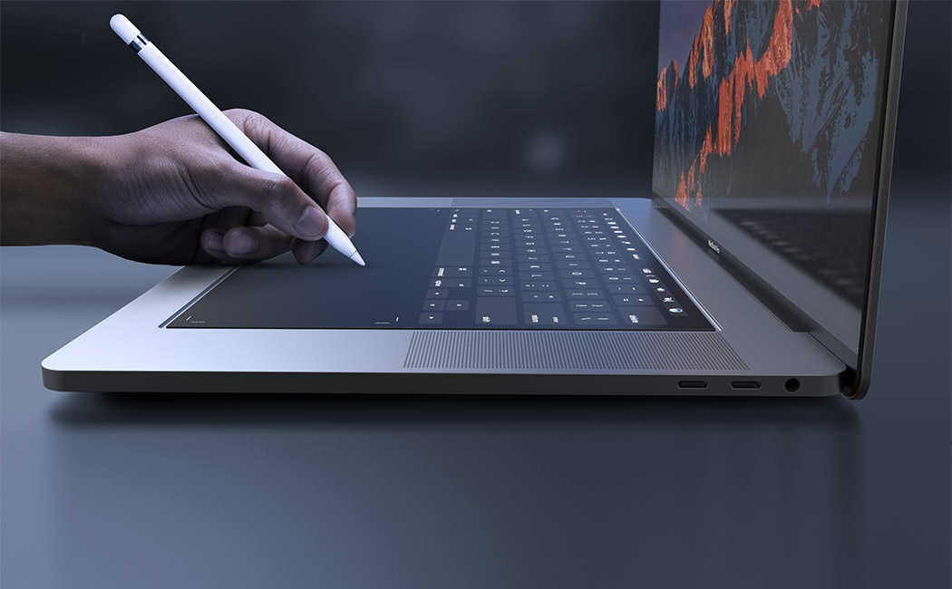 Displej na miesto klávesnice by sme mohli hravo použiť aj napríklad s Apple Pencil - svetapple.sk