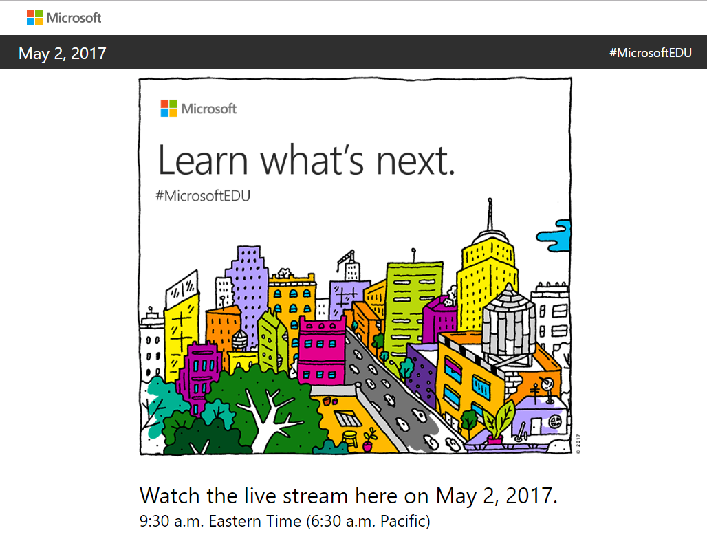 Microsoft Event Announced for May 2 – Is the Surface Pro 5