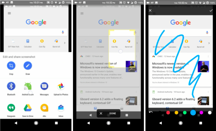 Google app screenshot