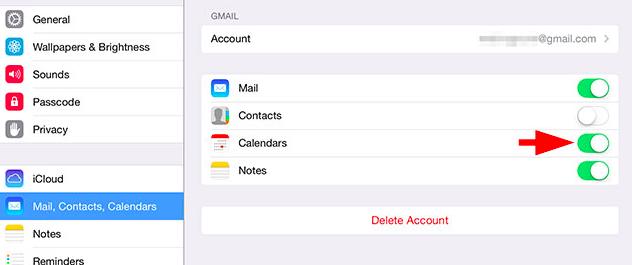 iPhone calendar sync