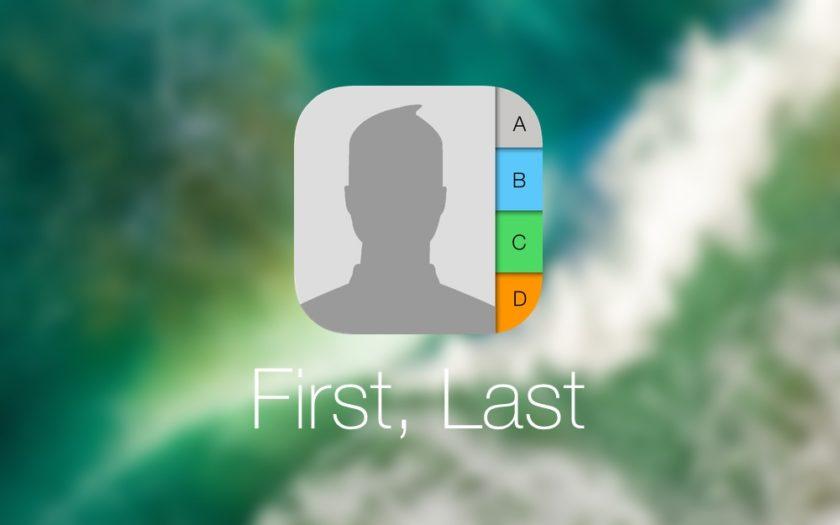 Sort iOS Contacts