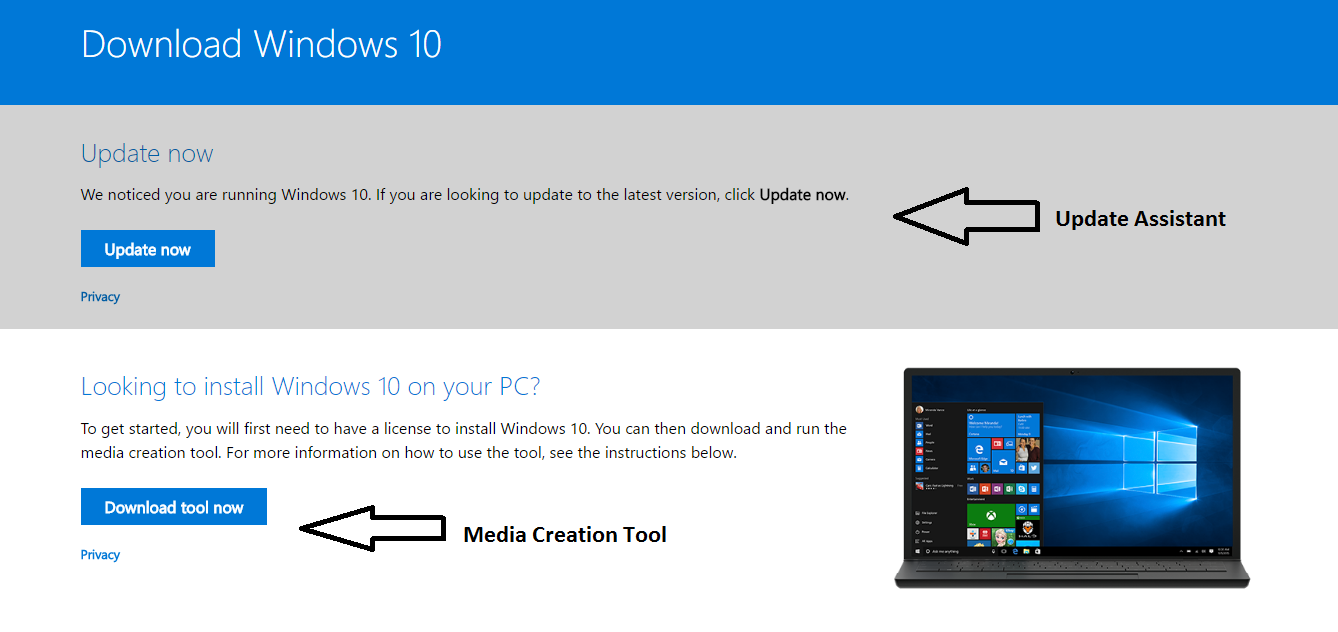 Steps to install windows 10 1803 april 2018 update before others go to windows 10 april 2018 update download page link install creators update ccuart Image collections