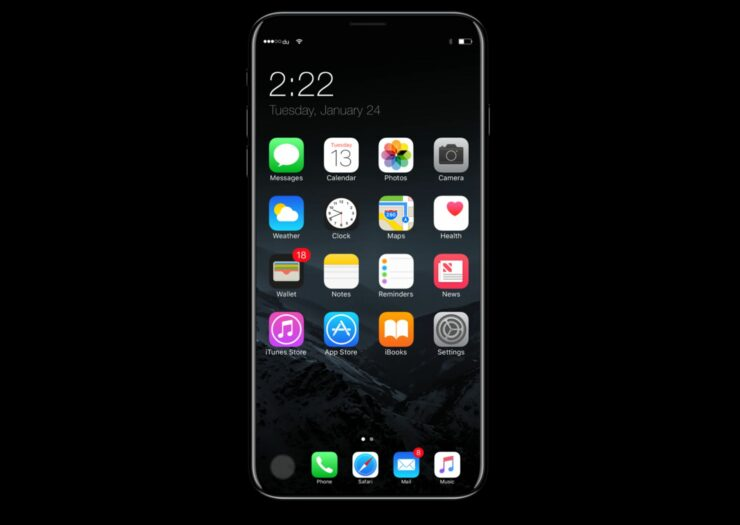iPhone 8 invisible selfie camera