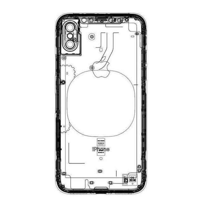 iphone 8 alleged sketch shows wireless charging coil