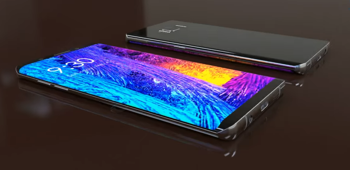 samsung galaxy note 8 concept imagines device along galaxy. Black Bedroom Furniture Sets. Home Design Ideas