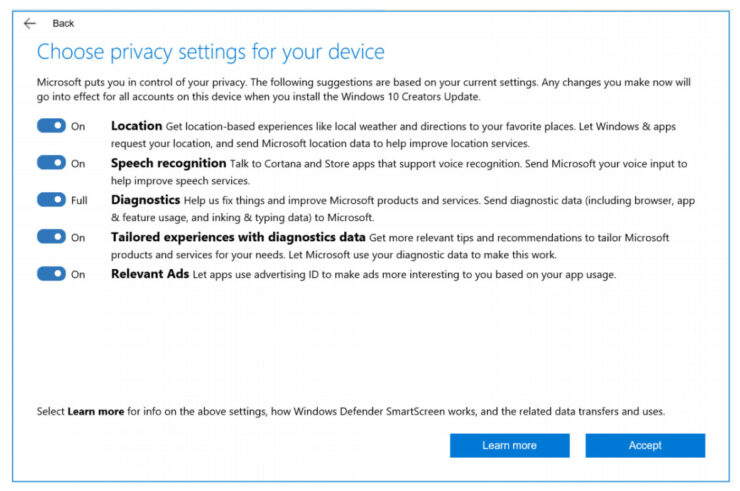 windows 10 data collection