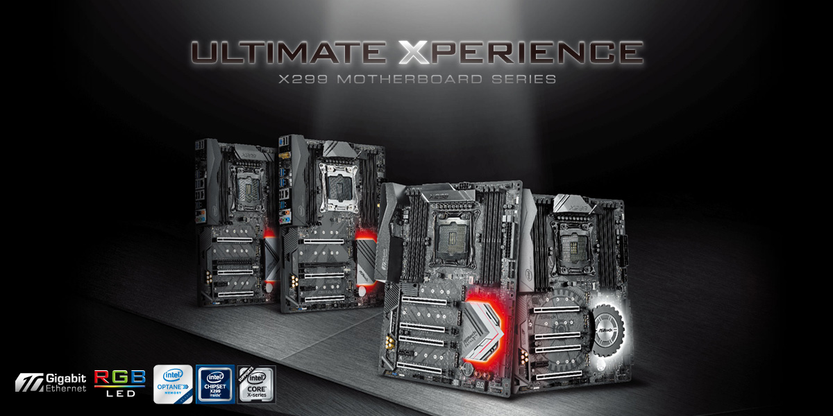Intel X299 Motherboards Pictured From ASUS, ASRock, Gigabyte