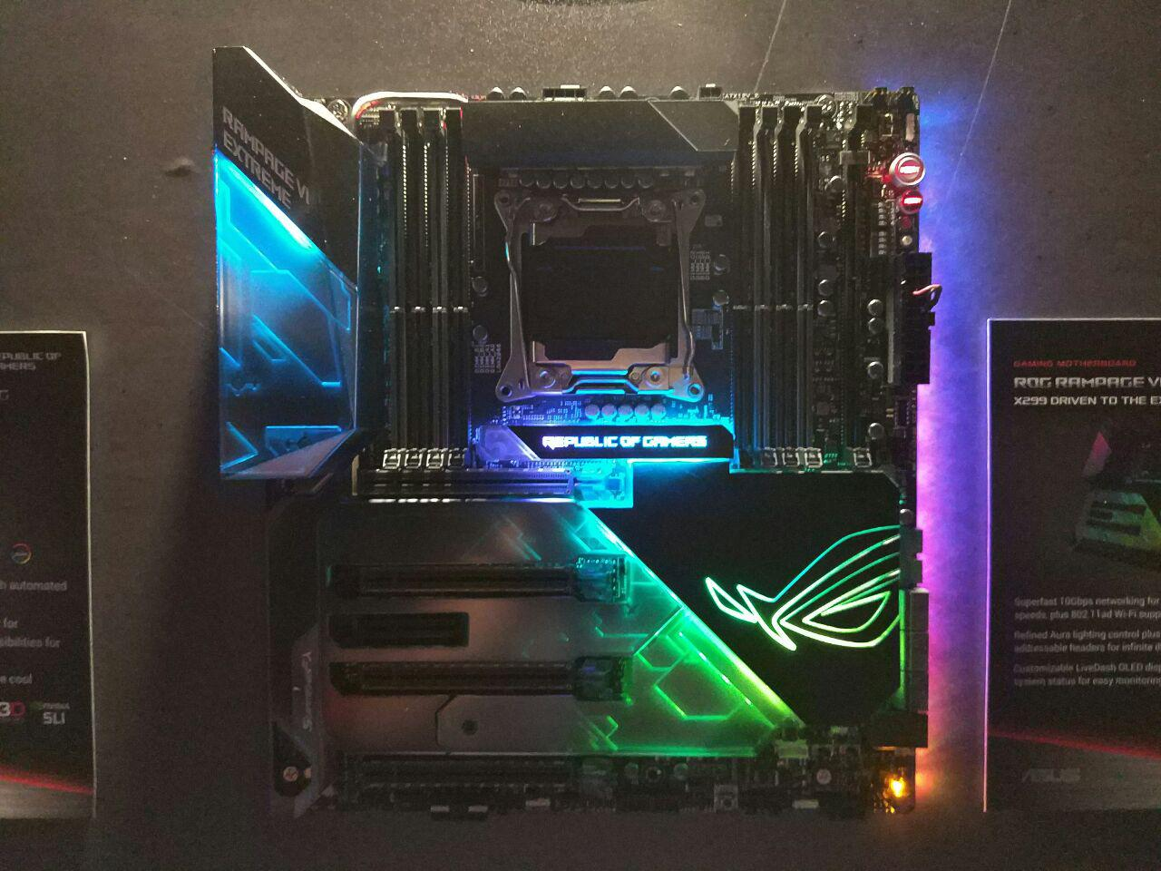ASUS X299 HEDT Motherboards Detailed - Flagship Rampage VI Extreme