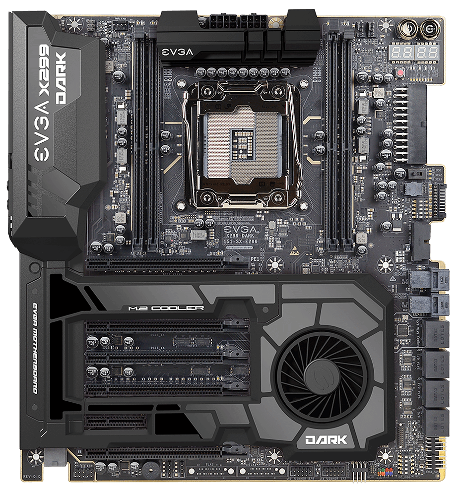 Evga Unveils Trio Of X299 Hedt Motherboards For Intel Core