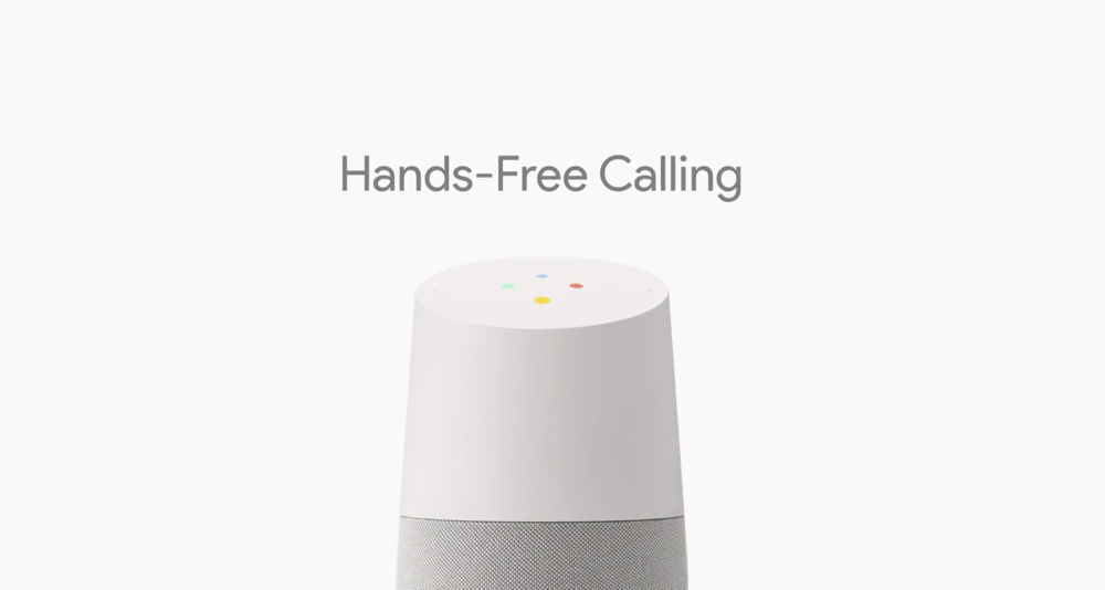 how to make a call with google home
