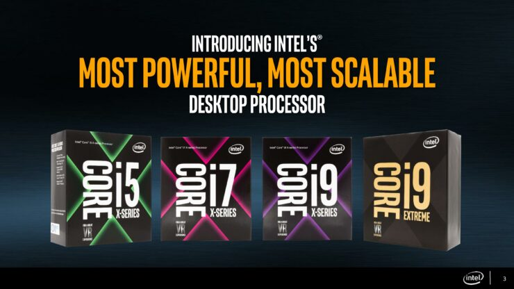 Intel Core i7 and Core i9 Core-X Series Processors