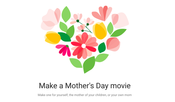 Google Photos Mother's Day