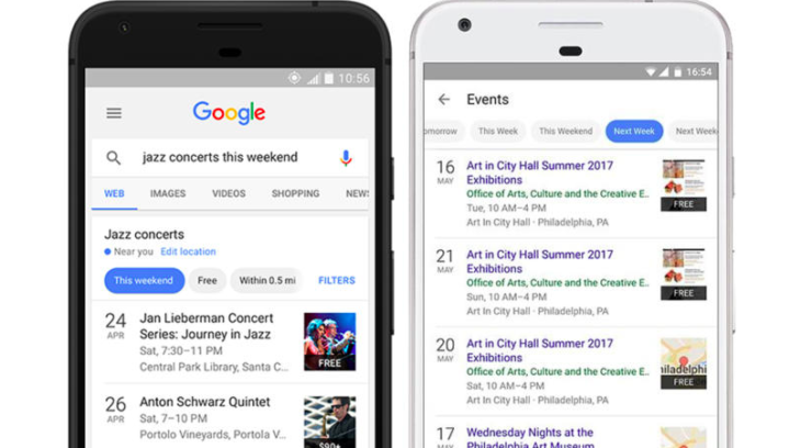 Google Search Events