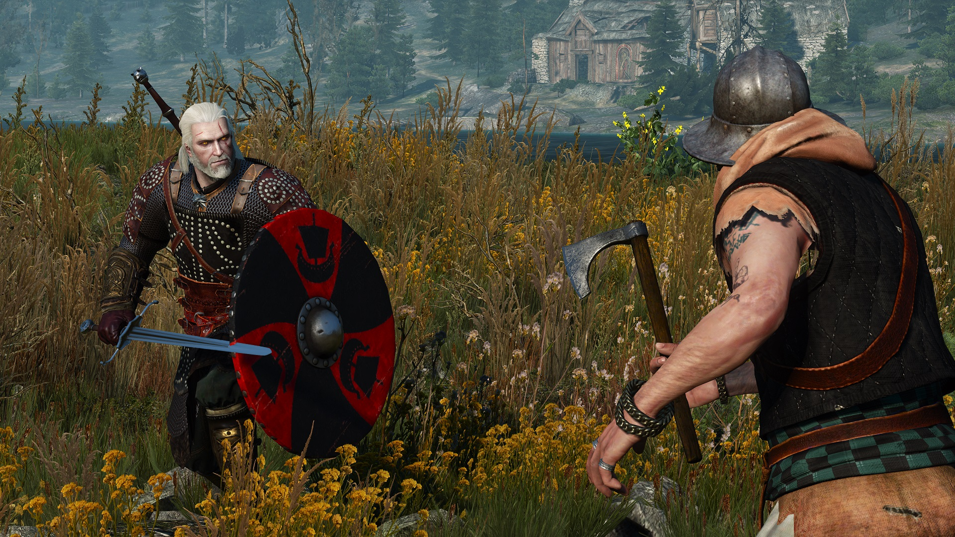 The Witcher 3 New Mod Lets Geralt Use Shields