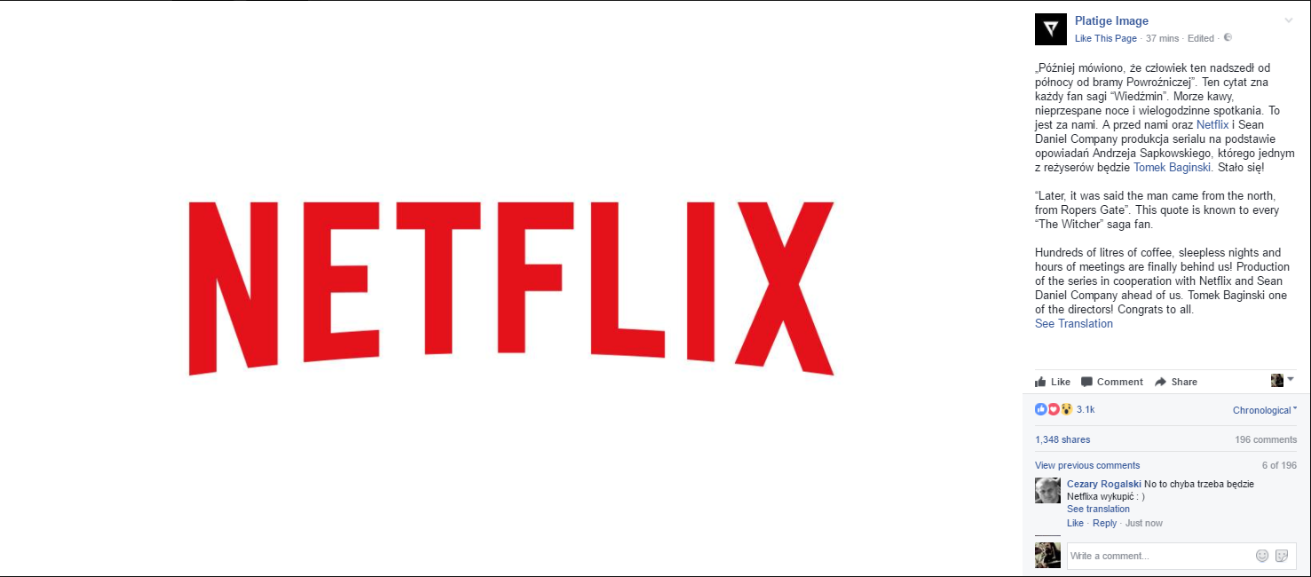 UPDATE] The Witcher Based Netflix Series In The Works, First