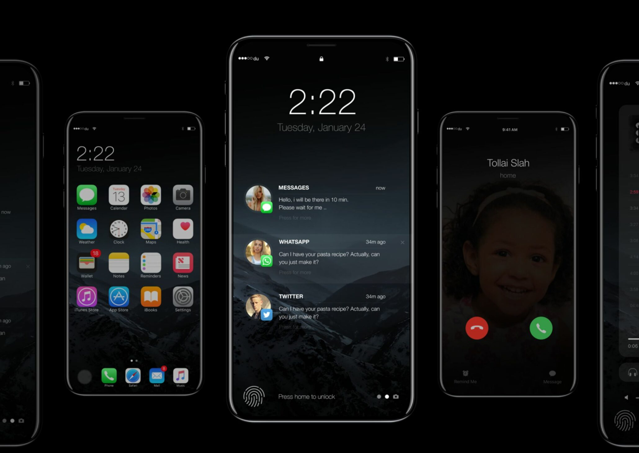 brand new 6cf77 5c1ae iPhone 8 Could Feature a Horizontal Edge-to-Edge Display – AirPods ...