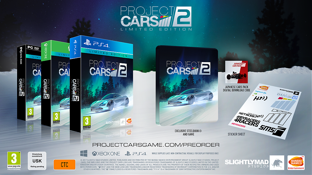 project cars 2 pre order now available season pass confirmed launching in late 2017. Black Bedroom Furniture Sets. Home Design Ideas