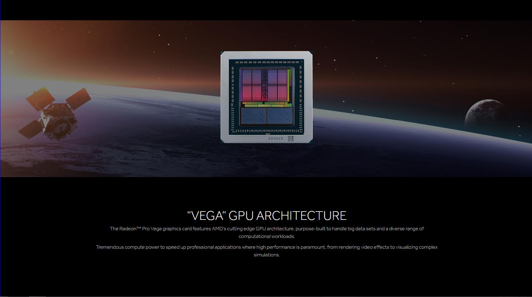 AMD Debuts Radeon Pro Vega 64 & Vega 56 - 25-22 TFLOPS