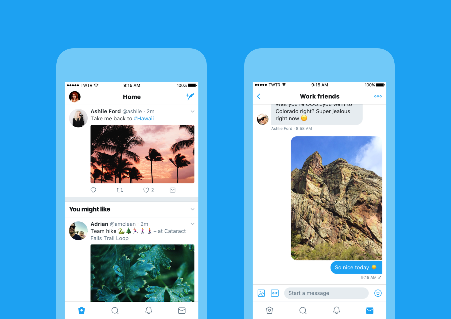 Twitter iOS new look