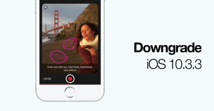 Downgrade iOS 10.3.3