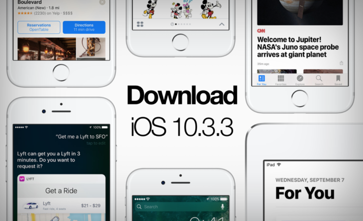 Download iOS 10.3.3 Software Update