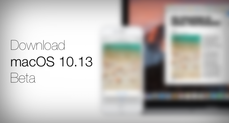 Download macOS 10.13 Beta