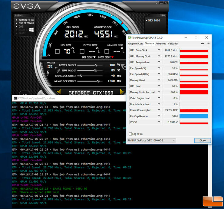 Msi Nvidia P106 100 Mining Edition Gpu Temps While Mining