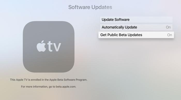 tvOS 11 Public Beta