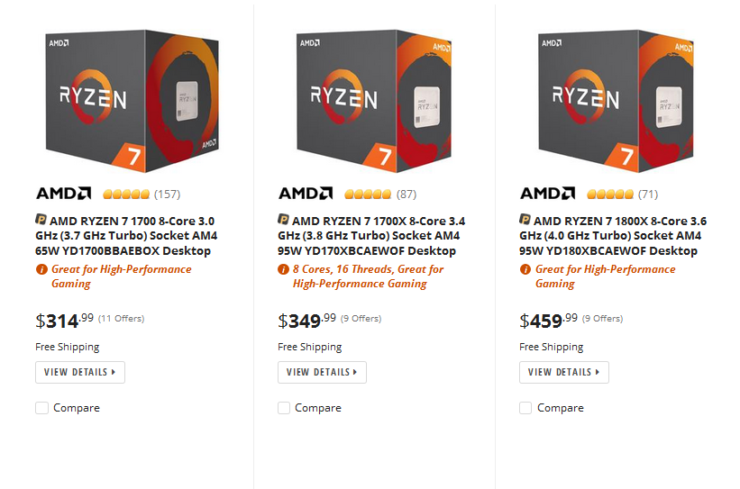 Amd Ryzen 7 Prices Drop By Up To 23 Ahead Of Threadripper Launch