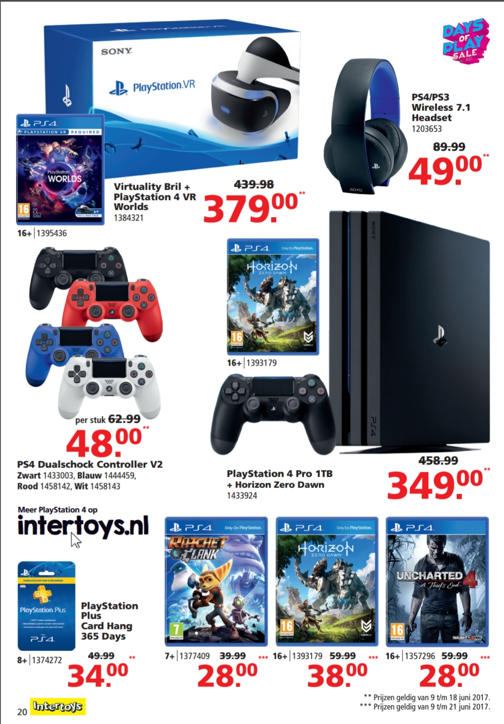 Retailer Leaks Days Of Play Sale Ps4pro Horizon At 350 1 Year