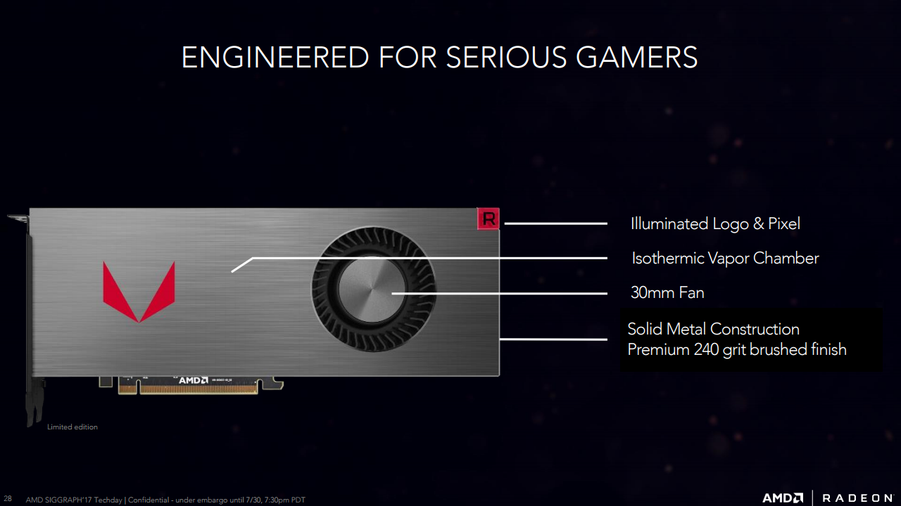 AMD Radeon RX Vega 64 and RX Vega 56 Official Details Announced