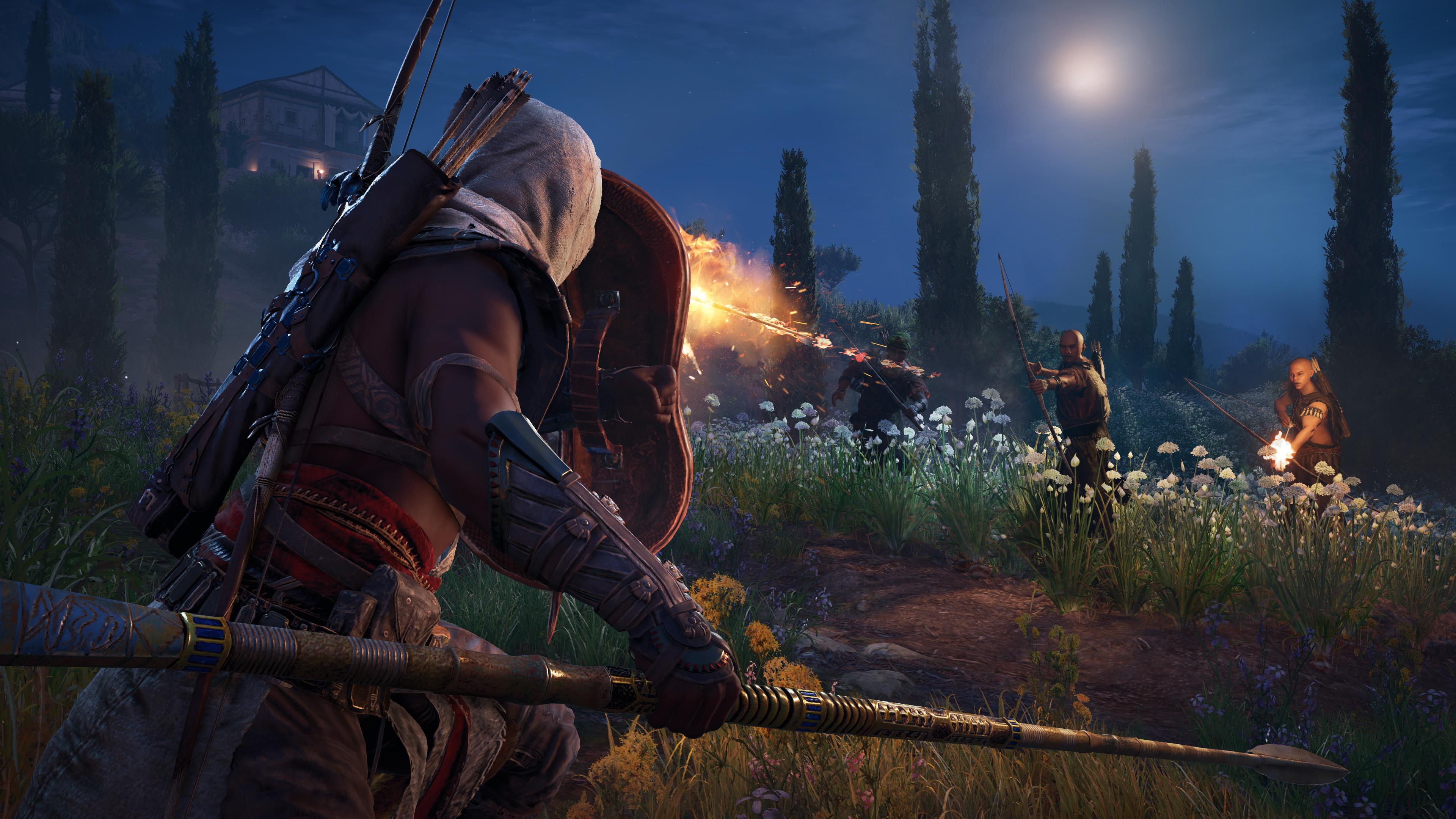 Assassin S Creed Origins New Video Showcases Combat Gameplay