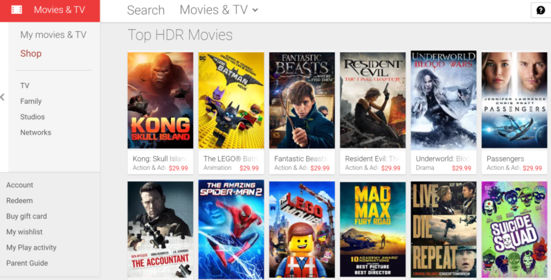 google play movies tv will upgrade certain titles to 4k for free