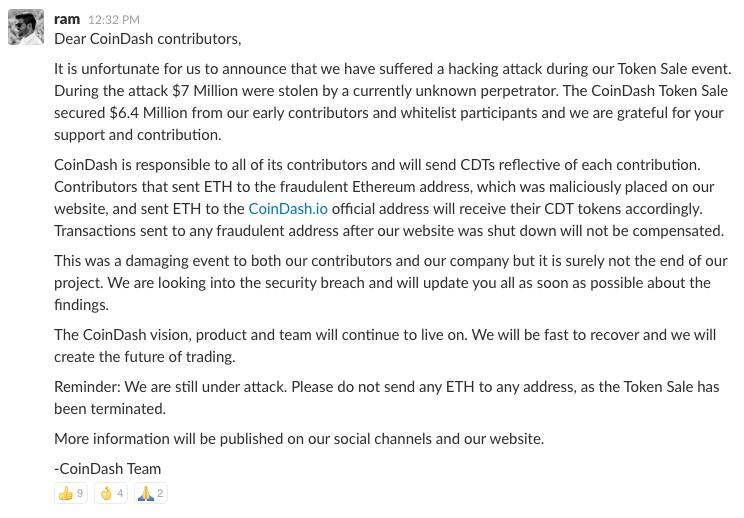 coindash ethereum attack