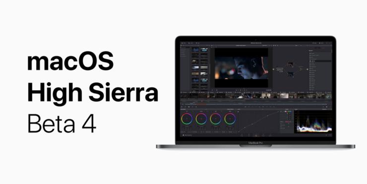 macOS 10.13 High Sierra Beta 4