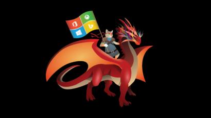 windows 10 Fall Creators Update ninjacat wallpaper