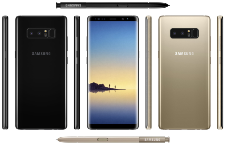 Galaxy Note 8 promo material