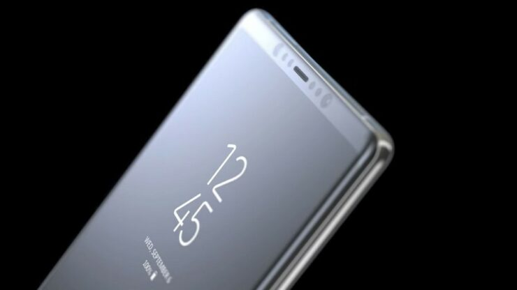 Galaxy Note 8 Deep Sea Blue model
