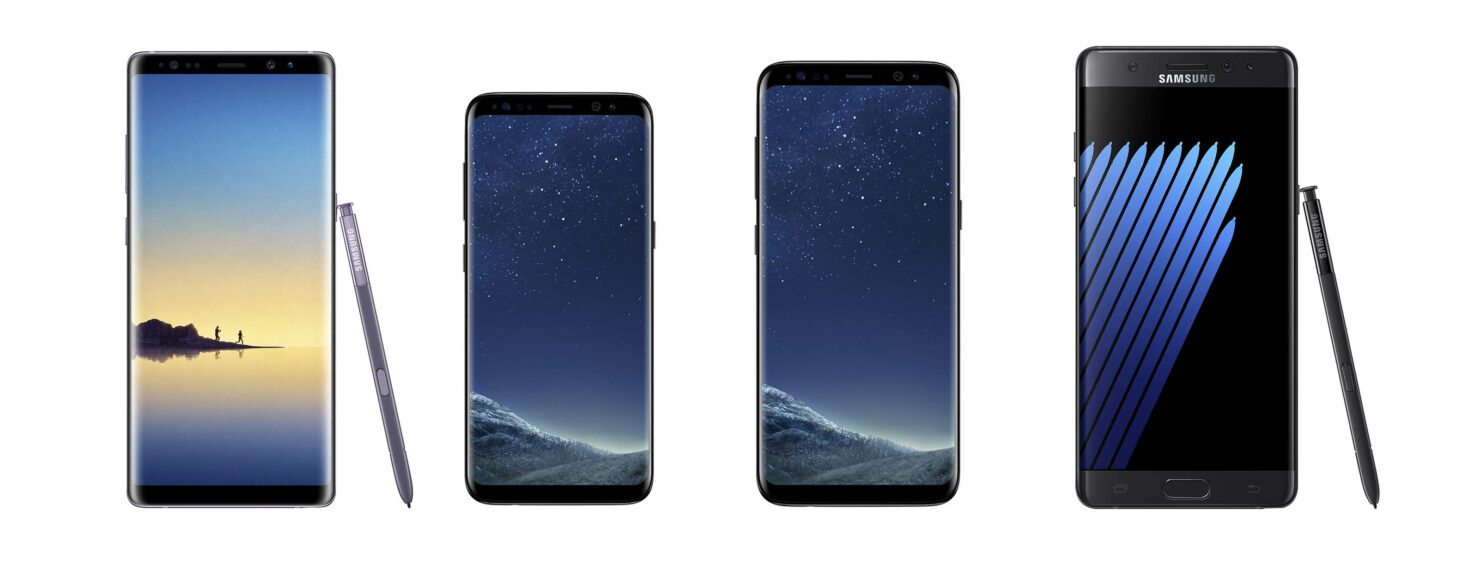 Galaxy Note 8 vs Galaxy S8 vs Galaxy S8 Plus vs Galaxy Note7