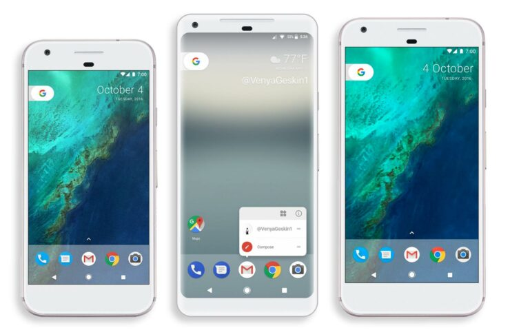 Google Pixel 2 XL bezel less