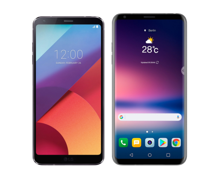 LG V30 vs LG G6 press renders