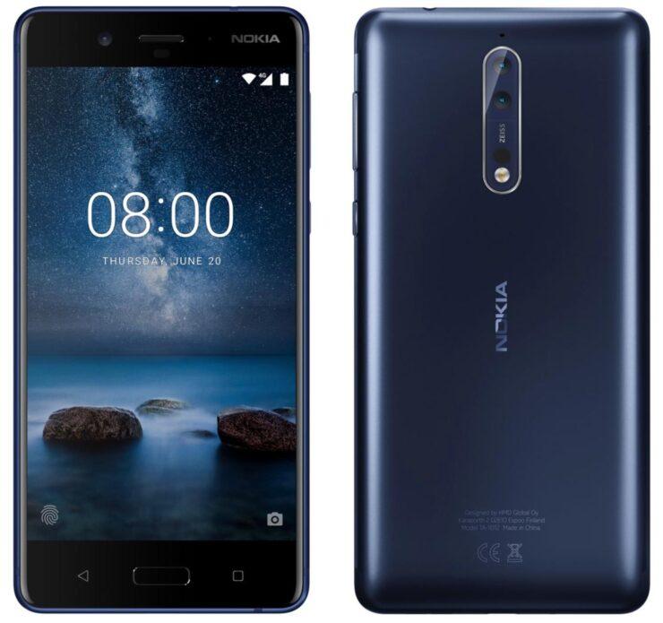 Nokia 8 front camera