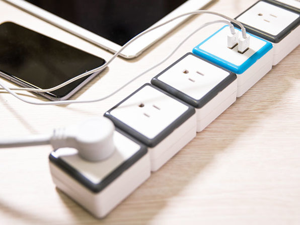 STACK 6-Port Modular Surge Protector + USB Charging Module