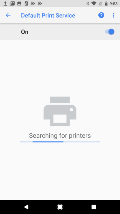 Default Print Service