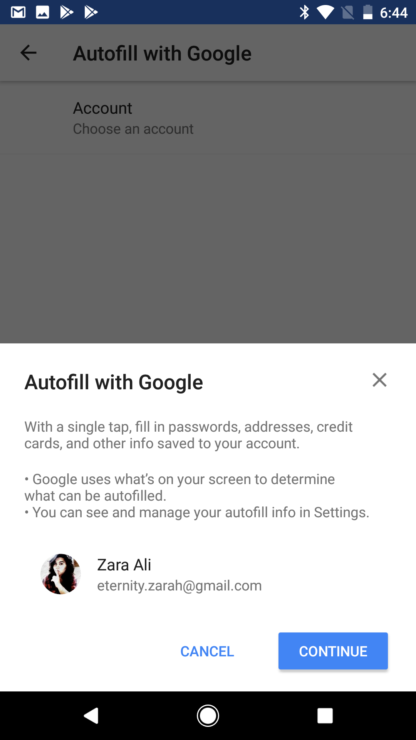 how to delete autofill android