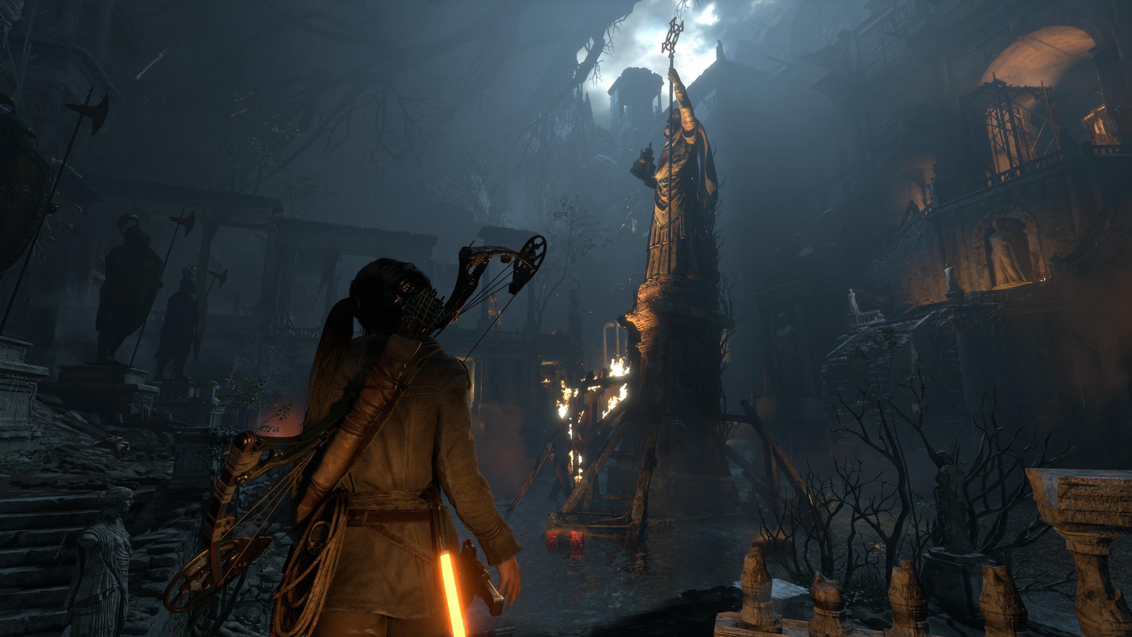 Rise Of The Tomb Raider Xbox One X Vs Ps4 Pro Comparison Shows